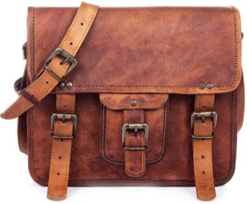 SN Men & Women Tan Messenger Bag