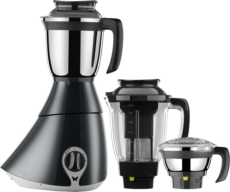 Butterfly Matchless 750 W Mixer Grinder(Black, Grey, 3 Jars)