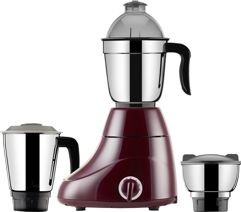 Butterfly Ivory 600 W Mixer Grinder(Maroon, 3 Jars)