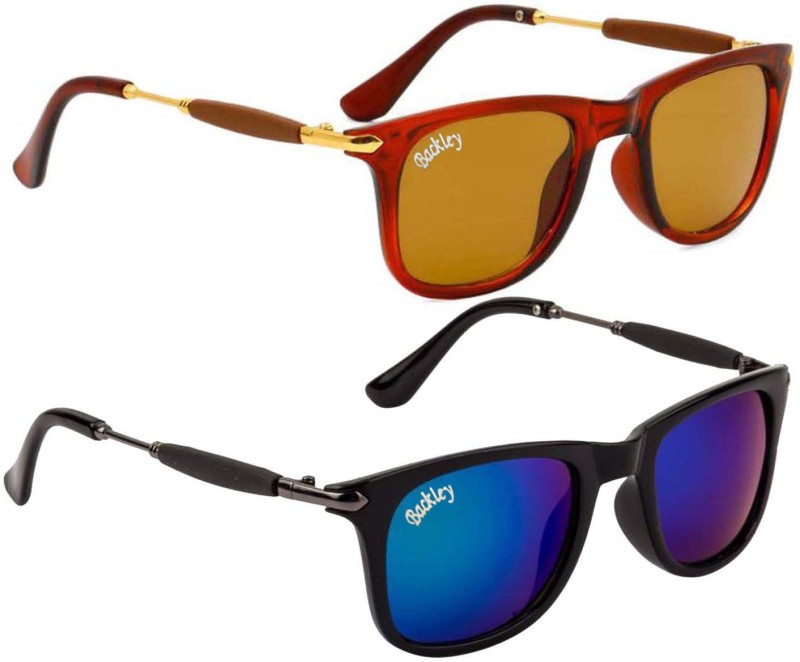Backley Wayfarer, Wayfarer Sunglasses(Brown, Blue)