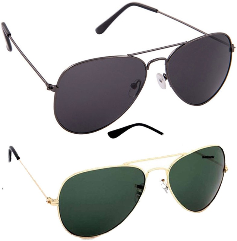 Hob Epic Ink Aviator Sunglasses(Multicolor) image