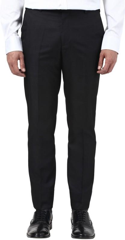 Park Avenue Slim Fit Mens Black Trousers