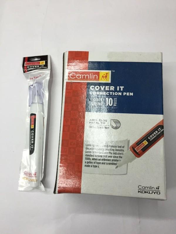 Camlin correction pen 10 ml 5 mm whitener pen(Set of 10, White)