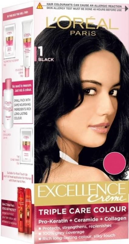 LOreal Paris Excellence Creme Hair Color(Black 1)