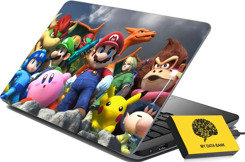 100yellow Printed Gaming Laptop Skin Decal 15.6 Inches for Lenovo HP Acer Dell Asus -210 -Laptop Skin Combo PVC Vinyl Laptop Decal 15.6