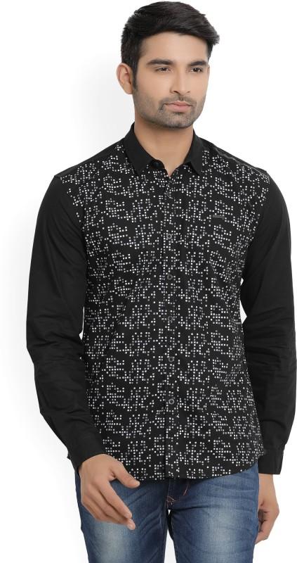 Wrangler Mens Printed Casual Black Shirt
