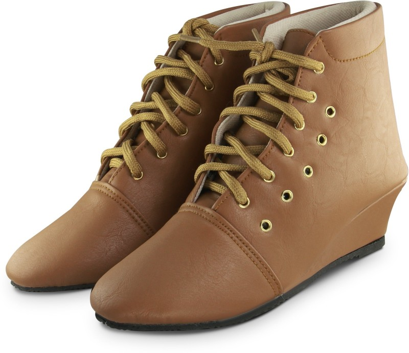 Ross & Rack Boots For Women(Tan)