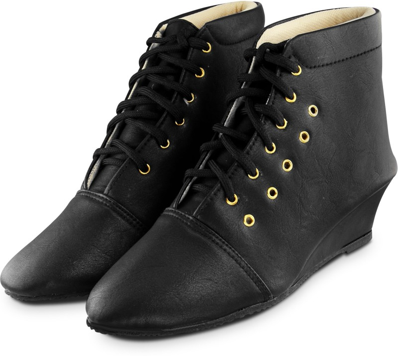 Ross & Rack Boots For Women(Black)