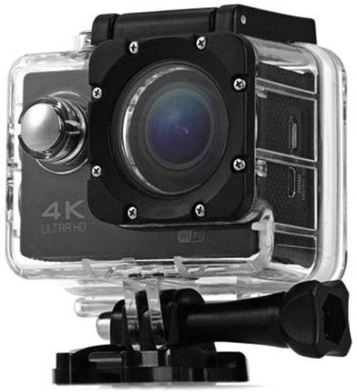 TSV 4K 4K Ultra HD 30m Water Resistant Sports and Action Camera(Black 16 MP)