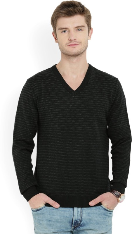 Wills Lifestyle Full Sleeve Self Design Men Sweatshirt