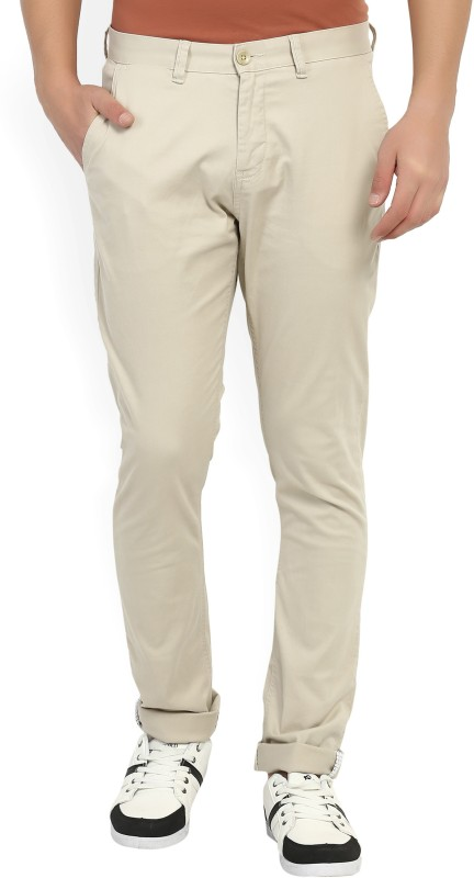 Van Heusen Tapered Mens Beige Trousers