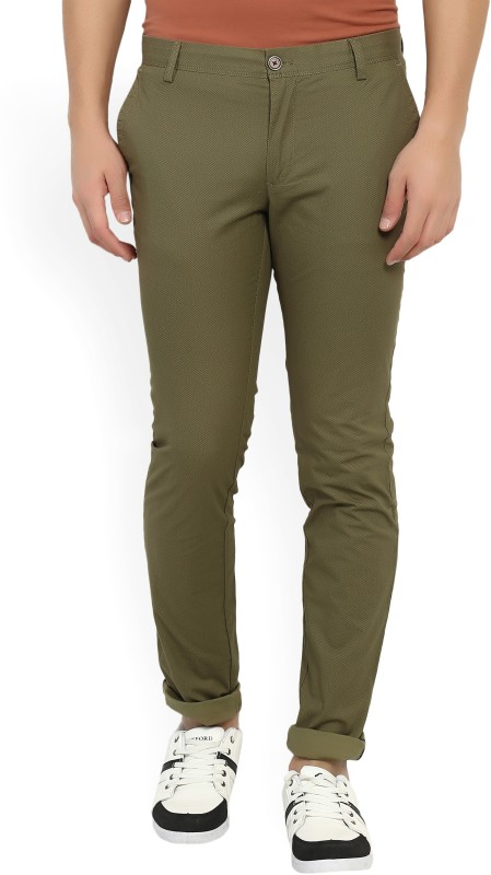 Indian Terrain Skinny Fit Mens Brown Trousers