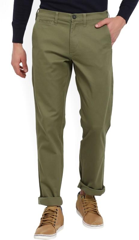 Wrangler Slim Fit Mens Green Trousers