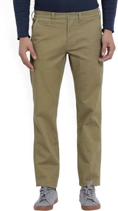 Wrangler Slim Fit Mens Brown Trousers