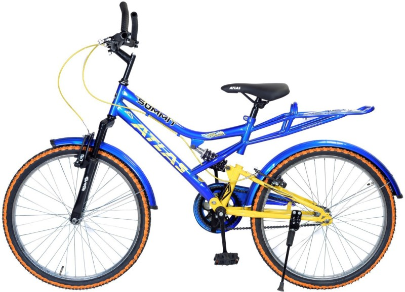 Atlas Summit IBC Dual Suspention Bike For Teen Blue&Yellow 16 T Single Speed Recreation Cycle(Blue)