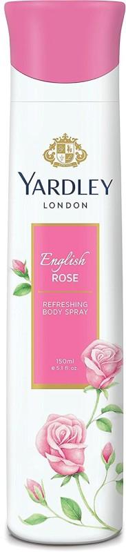 Yardley London Women English Rose 150ML Body Spray - For Women(150 ml)
