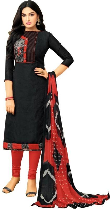 Divastri Chanderi Solid, Printed Salwar Suit Dupatta Material(Un-stitched)