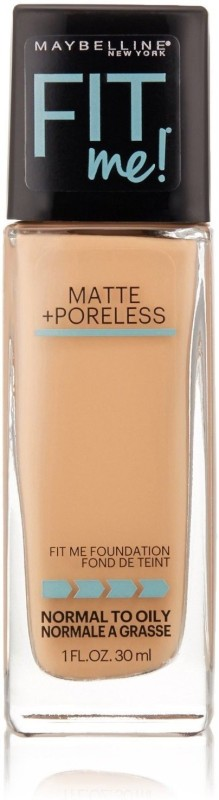 Maybelline New York Fit ME! Matte with Poreless Foundation, 235 Pure Beige Foundation(235 Pure Beige, 30 ml)