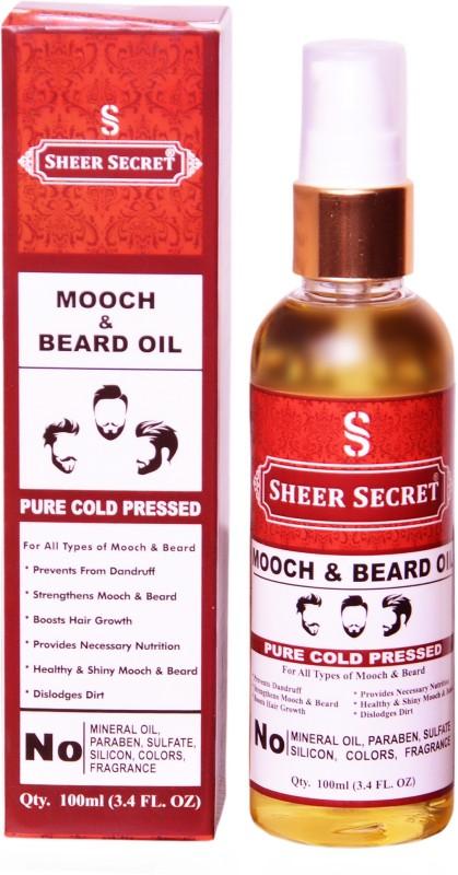 SHEER SECRET 1 COLD PRESSED MOOCH AND BEARD OIL 100ML Hair Oil(100 ml)