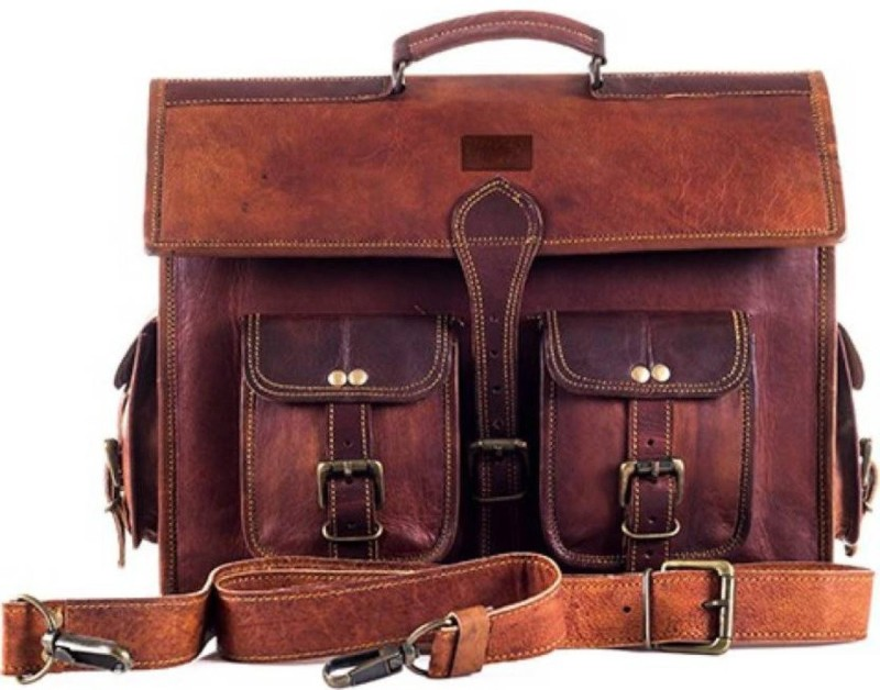 SN Men Brown Messenger Bag