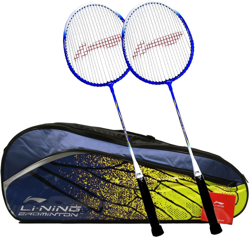 Li-Ning Graffiti Smash XP 707 Combo (Multi-Graffiti 3 Zipper Badminton Kitbag + 707 Badminton Racquet, Set Of 2) - Navy Bag Badminton Kit