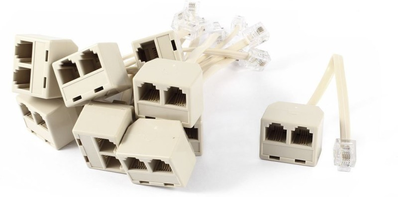 Axel Two Way RJ11 Splitter-10Pcs Lan Adapter(0 Mbps)