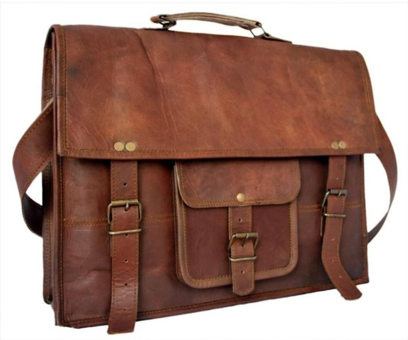 SN 15.6 inch Laptop Messenger Bag(Brown)