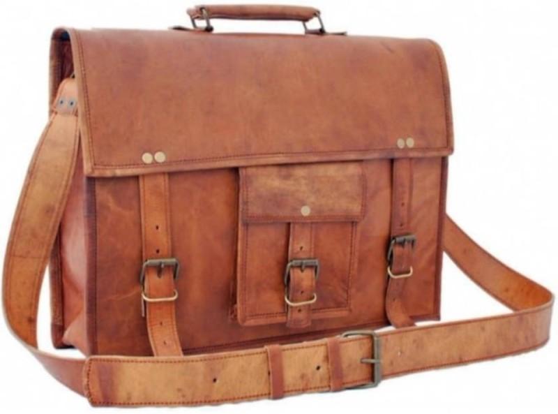 SN 16 inch Laptop Messenger Bag(Brown)