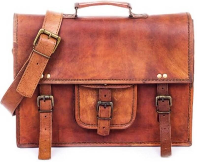 SN 14 inch Laptop Messenger Bag(Brown)