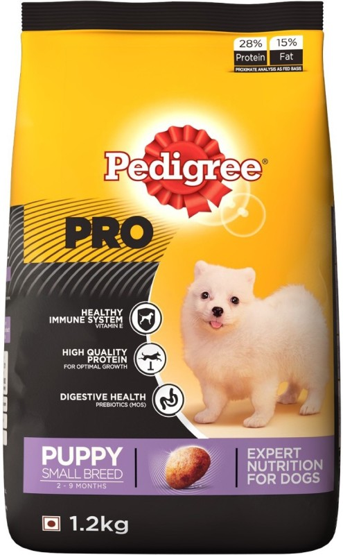 Pedigree PRO Expert Nutrition for Puppy Small breed, 2-9 months Chicken 1.2 kg Dry Dog Food