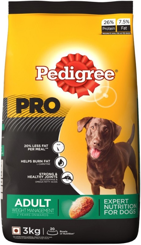 Pedigree PRO Expert Nutrition for Weight Management Adult Dogs Chicken 3 kg Dry Dog Food