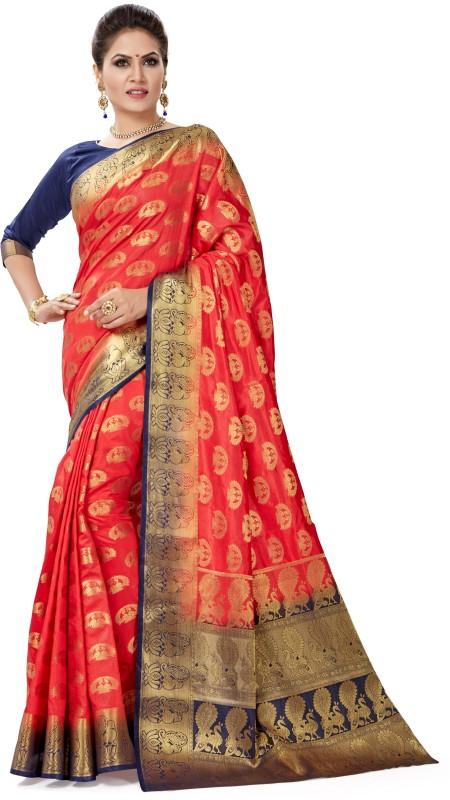 Sanku Fashion Self Design Patola Pure Silk, Banarasi Silk, Art Silk, Jacquard...