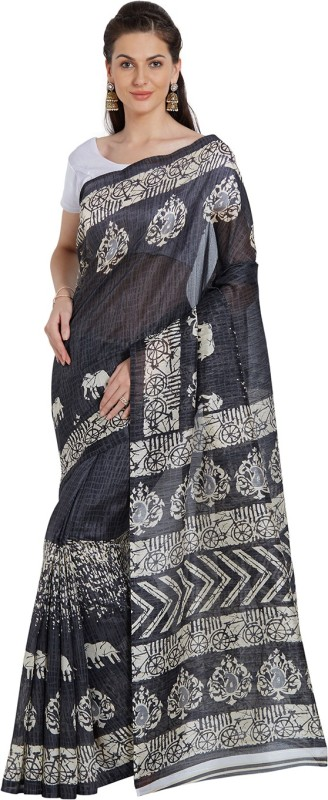 Livie sarees price list in india 20 august 2018 livie sarees price 80off livie geometric print fashion raw silk sareeblack thecheapjerseys Image collections