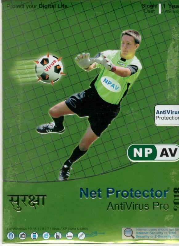 Net Protector NPAV Anti Virus Pro 2018 1 User 1 Year