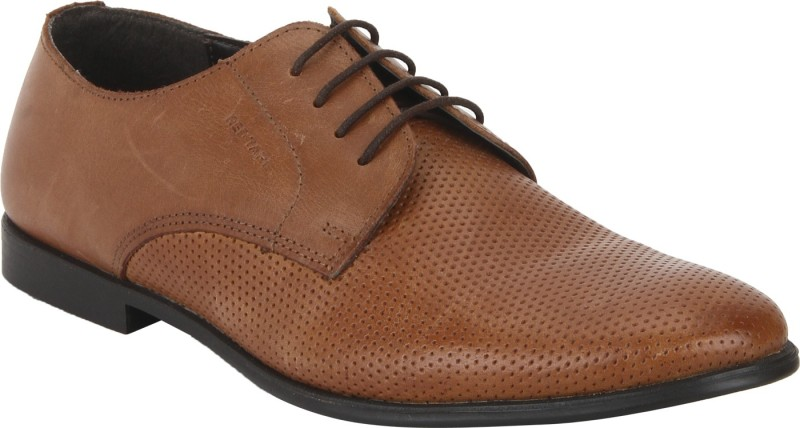Red Tape Leather Formal Derby For Men(Tan)