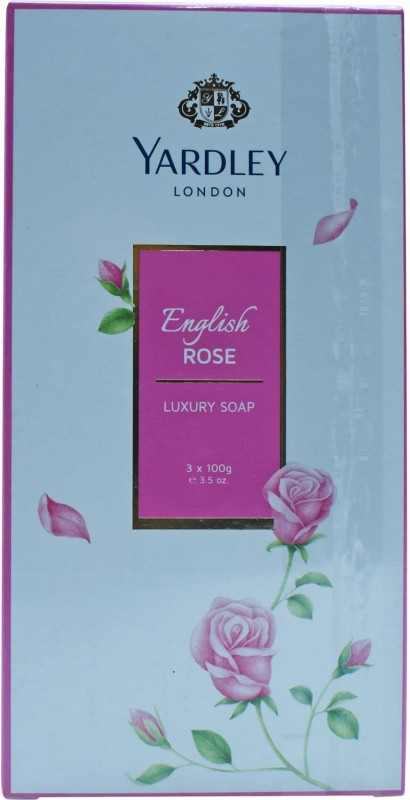 Yardley London English Rose Luxury Soap - 300g (3.5oz) (3x100g)(300 g)