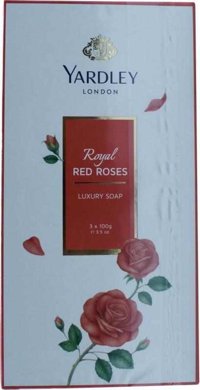 Yardley London Royal Red Roses Luxury Soap - 300g (3.5oz) (3x100g)(300 g)