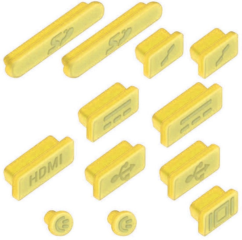 Heartly USB Yellow Anti-dust Plug(Laptop Pack of 13)