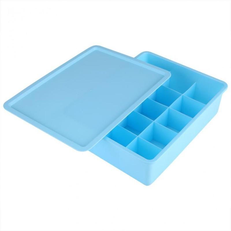 Skyzone 15 Slot Drawer Organizer Storage Box Drawer Divider Innerwear Organizer Closet Divider(Plastic)