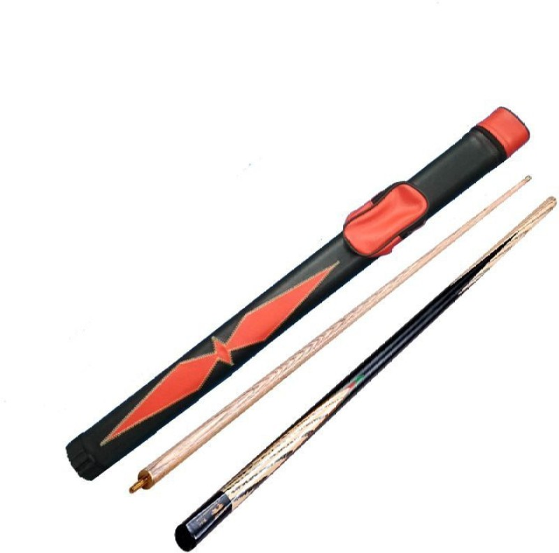 KBA COMBO OF HALF BRIDGE CUE 9MM WITH RED CUE COVER KBAC129 Pool Cue Stick(Wooden)