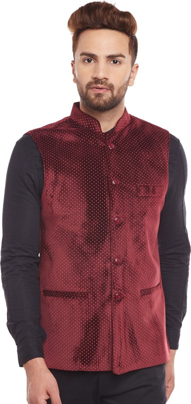 Hancock Sleeveless Printed Mens Jacket
