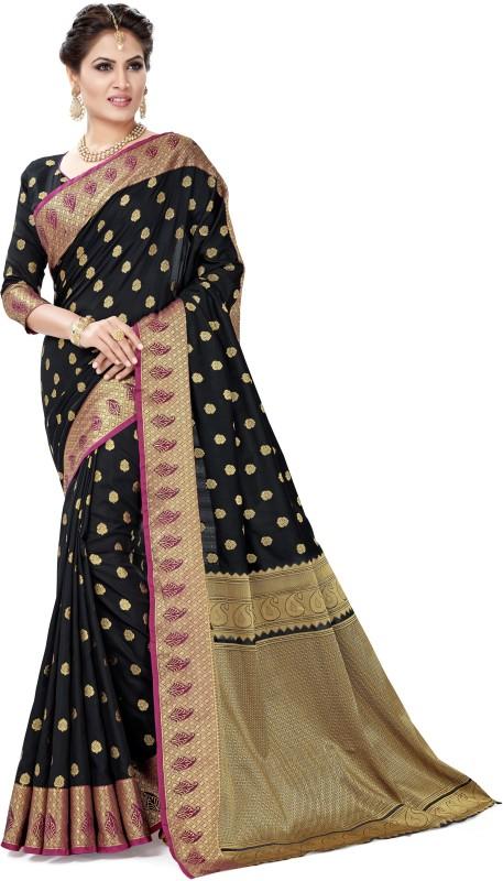 Sanku Fashion Solid, Self Design, Striped Patola Pure Silk, Banarasi Silk, Art...
