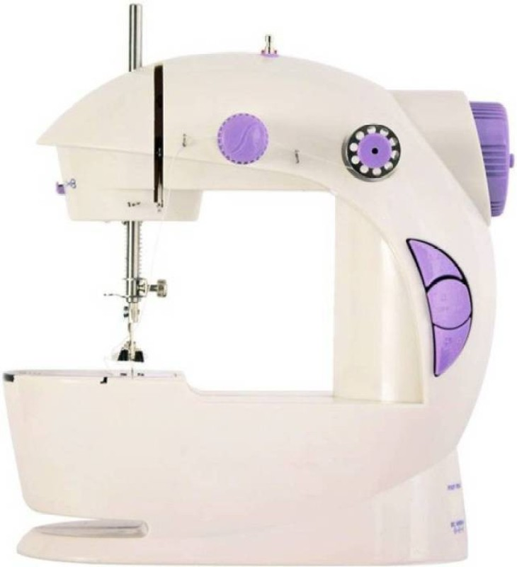 WDS Mini Sewing Machine, Portable Electric Crafting Mending Machine 2-Speed Double Thread, Double Speed with Light & Cutter, Foot Pedal for Household Travel Beginner Electric Sewing Machine�( Built-in Stitches 1) Electric Sewing Machine( Built-in Stitches 1)