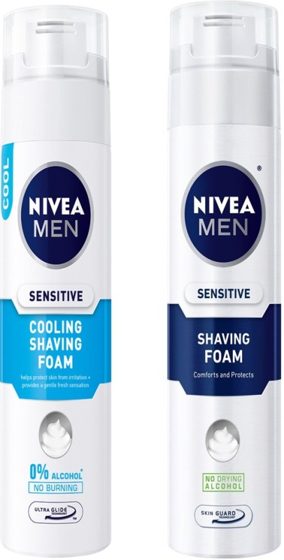 Nivea MEN SENSITIVE SHAVING FOAM 200 ML+MEN SENSITIVE COOLING SHAVING FOAM 200 ML(200 ml)