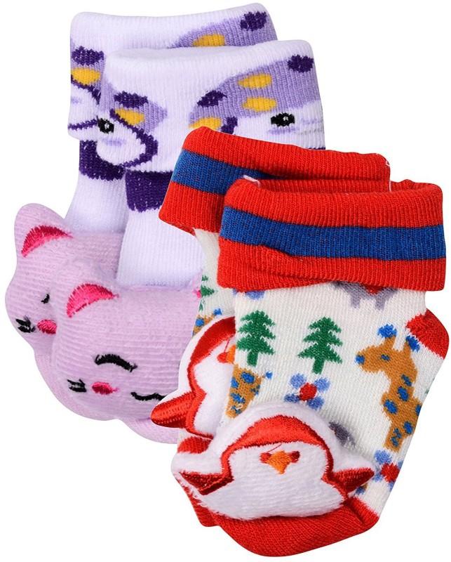 A Little Swag Baby Boys & Baby Girls Printed Quarter Length Socks(Pack of 2)