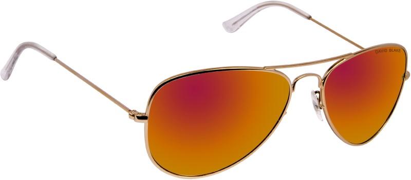 David Blake Aviator Sunglasses(Red)