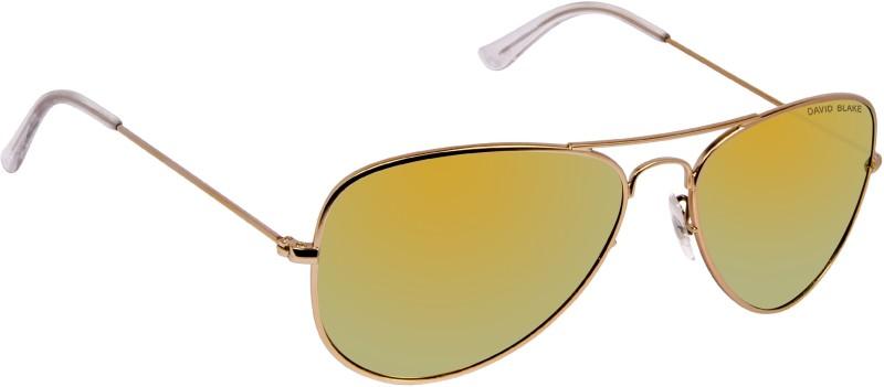 David Blake Aviator Sunglasses(Yellow)