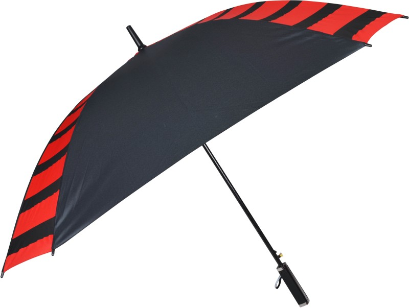 Murano Black and red Combination Protection Square Shape Umbrella(Black)
