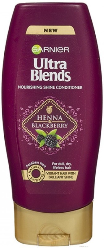Garnier New Ultra Blends Heena & Blackberry, Nourshing Shine Conditioner(175 ml)