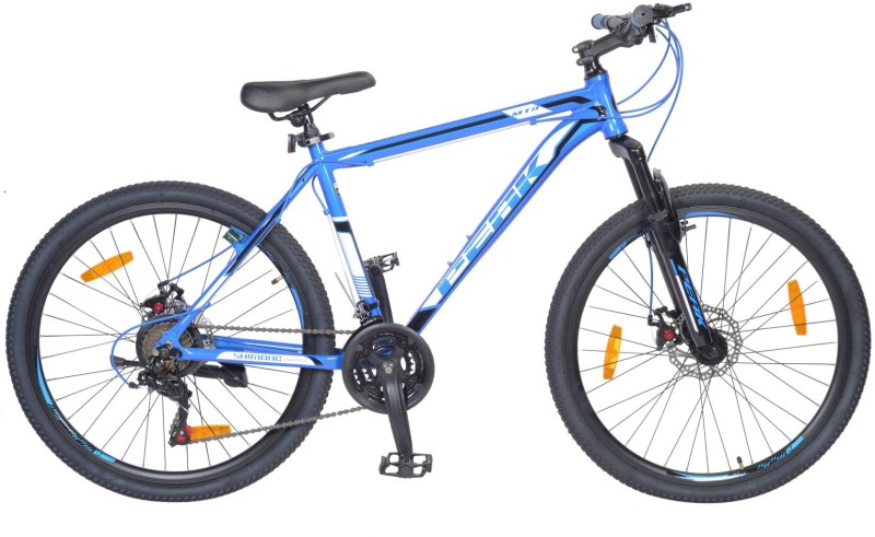 Atlas Hammer Front Suspension&Disc Bike For Adults Bluek&Black 26 T 21 Gear Mountain/Hardtail Cycle(Blue)